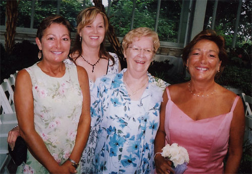 Mom & 3 daughters (I'm in the back).