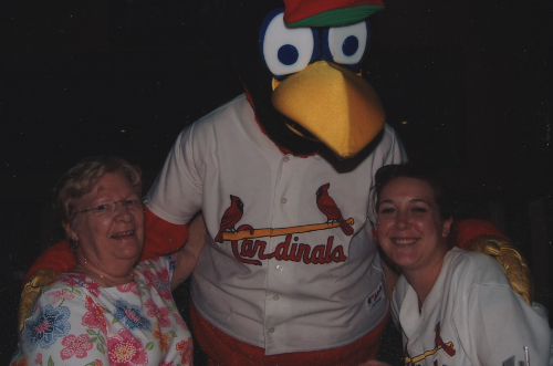 Mom & granddaughter, Kelly w/Fred Bird!