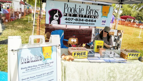 Manning the Pookie Booth